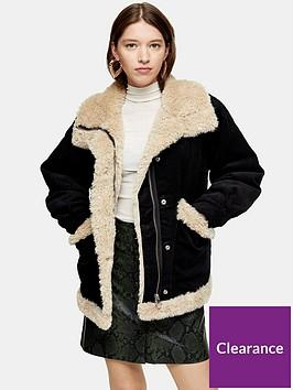 topshop-borg-lined-jacket-black