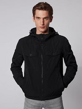 Boss Boss Odear Nylon Hooded Jacket - Black Picture