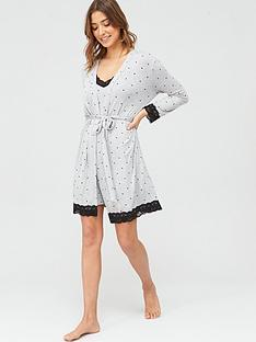 pour-moi-spot-print-jersey-lace-trim-robe-grey-marl