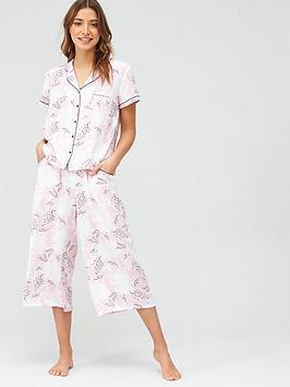 Pour Moi Pour Moi Wild Floral Lace Detail Trouser - Pink Print Picture