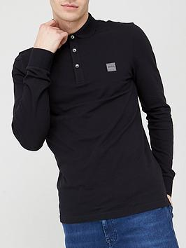 Boss Boss Passerby Long Sleeve Polo Shirt - Black Picture