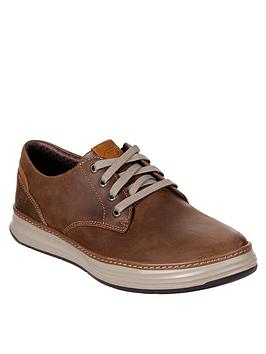 Skechers  Moreno Gustom Leather Trainers - Brown