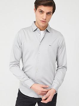 Boss Boss Mypop2 Stretch Long Sleeve Shirt - Silver Picture