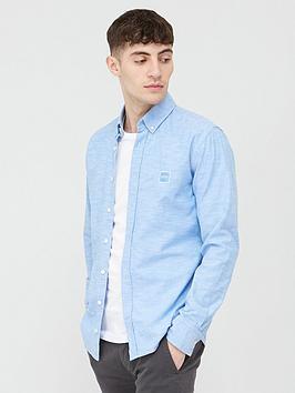Boss Boss Mabsoot Long Sleeve Shirt - Open Blue Picture