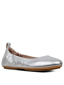 FitFlop Fitflop Allegro Leather Ballerina - Silver Picture
