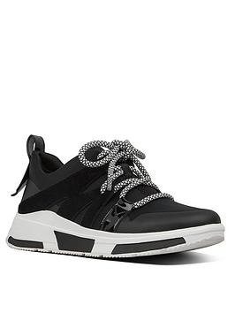 FitFlop Fitflop Carita Sport Low Top Sneaker Trainer - Black Picture