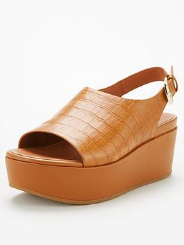 FitFlop Fitflop Eloise City Wedge Sandal - Light Tan Picture