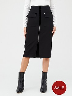v-by-very-zip-front-pencil-skirt