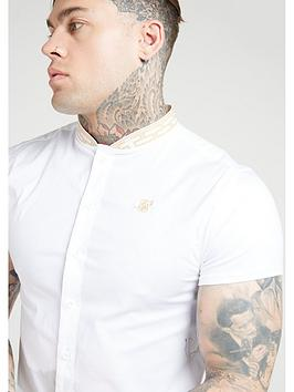 Sik Silk Sik Silk Short Sleeved Tape Collar Shirt - White Picture