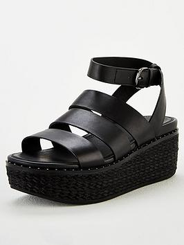 FitFlop Fitflop Eloise Espadrille Wedge Sandal - Black Picture