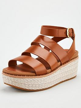 FitFlop Fitflop Eloise Strappy Espadrille Wedge Sandal - Light Tan Picture