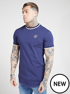 sik-silk-short-sleeve-rib-gym-t-shirt-navy