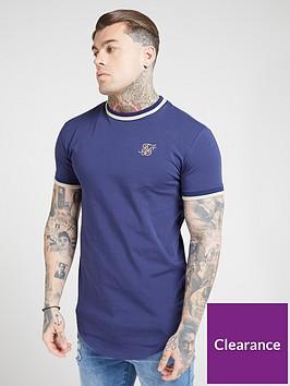 sik-silk-short-sleeve-rib-gym-t-shirt-navy