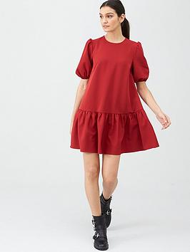 V by Very V By Very Crepe Smock Dress - Red Picture