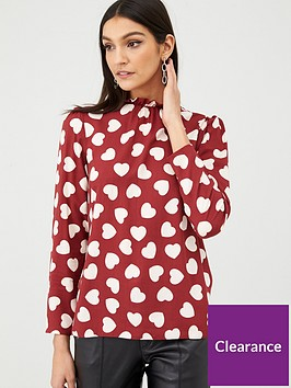 v-by-very-high-neck-blouse-heart-print