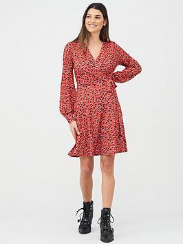 v-by-very-wrap-printed-mini-dress