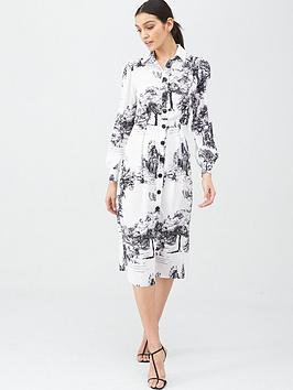 V by Very V By Very Printed Shirt Dress - Print Picture