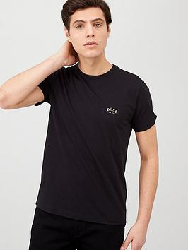 Boss Boss Curved Logo T-Shirt - Black Picture
