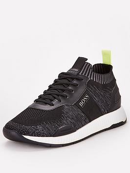 Boss Boss Titanium Knit Sock Runner Trainers - Black Picture