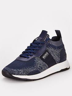 boss-titanium-knit-sock-runner-trainers-navy