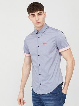 Boss Boss Biadia Short Sleeve Oxford Shirt - Navy Picture