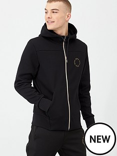 boss-saggy-circle-zip-throughnbsphoodie-black