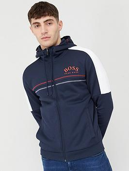 Boss Boss Saggy Zip Through Tracksuit Hoodie - Navy Picture