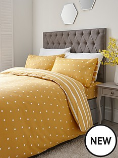 everyday-collection-brushed-cotton-printed-spot-duvet-cover-set