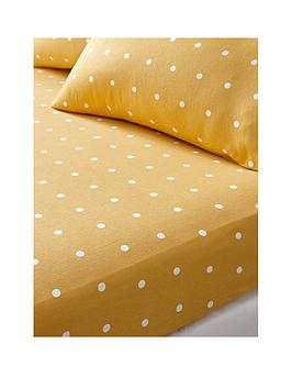 Everyday Collection Everyday Collection Brushed Cotton Printed Spot Fitted  ... Picture