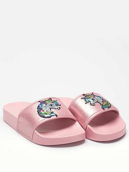 Lelli Kelly Lelli Kelly Girls Alexis Unicorn Slider - Pink Picture