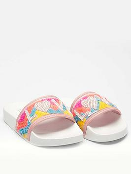 Lelli Kelly Lelli Kelly Girls Sequin Love Slider - White Multi Picture