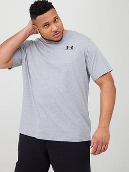 under-armour-plus-size-sportstyle-left-chest-t-shirt-greyblacknbsp