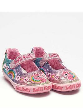 Lelli Kelly Lelli Kelly Girls Rainbow Unicorn Dolly Shoe - Multi/Glitter Picture