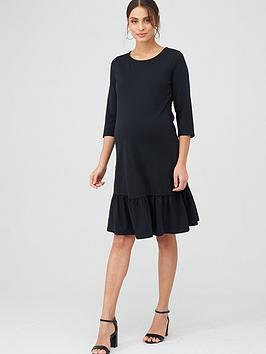 mama-licious-maternity-sasja-jersy-midi-dress-blacknbsp