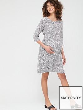 mama-licious-maternity-alica-spot-woven-dress-white-black