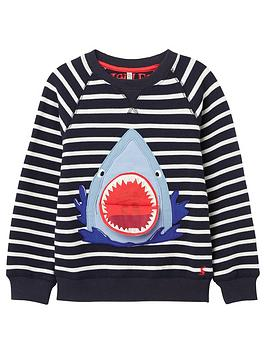 Joules Joules Toddler Boys Ventura Shark Sweat Top - Navy Picture