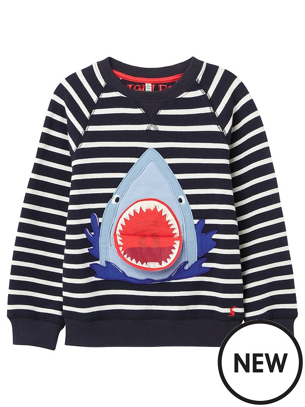 Joules Boys Shark Dressing Gown