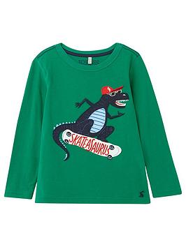 Joules Joules Toddler Boys Jack Dino Long Sleeve T-Shirt - Green Picture
