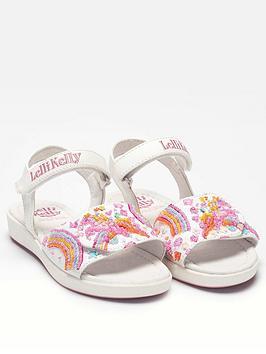 Lelli Kelly Lelli Kelly Girls Dorothy Unicorn Sandal - White Picture