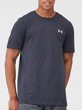 Under Armour Under Armour Seamless Wave T-Shirt - Black/Grey Picture