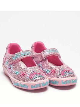 Lelli Kelly Lelli Kelly Girls Tiara Dolly Shoe - Pink/Glitter Picture