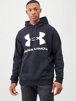 under-armour-rival-fleece-logo-overhead-hoodie-blackwhite