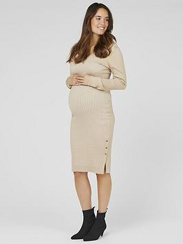 Mama-licious Mama-Licious Mama-Licious Maternity Maria Knitted Midi Dress Picture