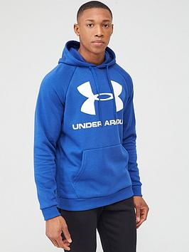 Under Armour Under Armour Rival Fleece Logo Overhead Hoodie - Blue/White Picture