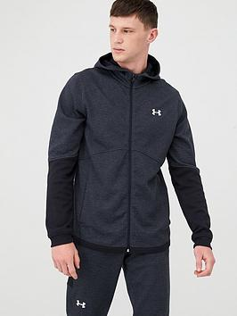 Under Armour Under Armour Double Knit Full Zip Hoodie - Black/White Picture