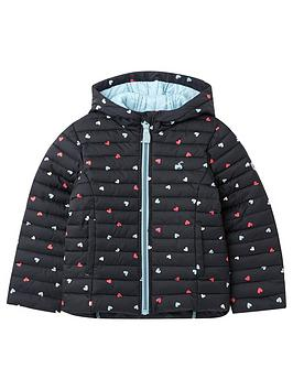 Joules Joules Girls Kinnaird Hearts Padded Coat - Navy Picture