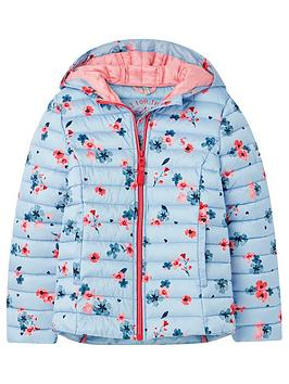 Joules Joules Girls Kinnaird Posey Padded Coat - Blue Picture