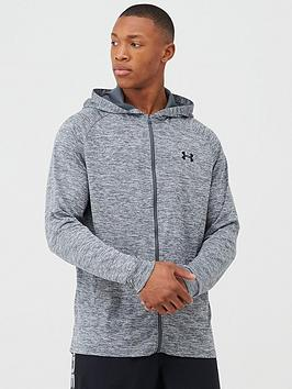 Under Armour Under Armour Tech 2.0 Full Zip Hoodie - Grey/Black Picture