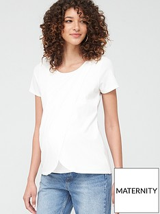 mama-licious-maternity-wrap-jersey-top-with-nursing-function-white