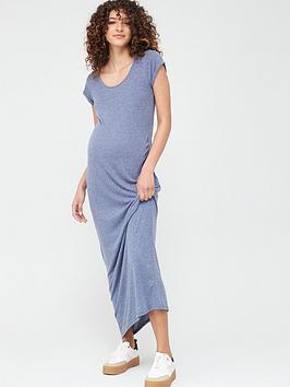 Mama-licious Mama-Licious Maternity Nella Jersey Maxi Dress - Blue Picture